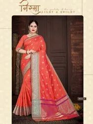 Ligalz Presents Beautiful Silk Saree With Weaving Butty