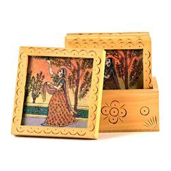 Gemstone Painted Tea Coaster Set 212