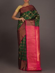 Real Zari Gadwal Silk Saree