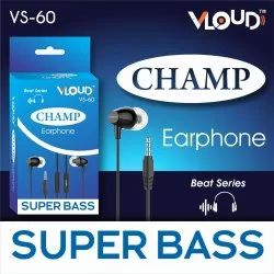 Wired Mobile Champ Bass Earphones, Model Name/Number: Vs-60