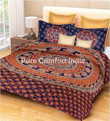 Jaipuri Sanganeri Bed Sheet