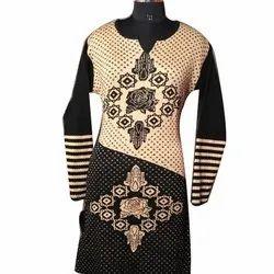 Designer Woolen Casual Kurti, Size: L