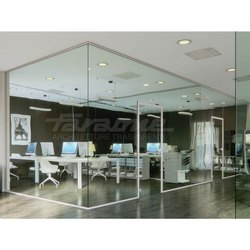 Glass Partition With Slim Profile