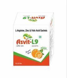 L Arginine, Zinc And Folic Acid Sachets