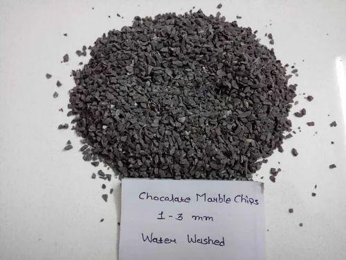 MMArt Cherry Brown Marble Chips For Terrazzo Floor, Packaging Type: 20 kg