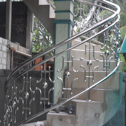 Bar Tempered Glass Stainless Steel Railing