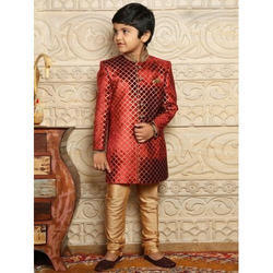 Tussar Silk Kids Ethnic Sherwani