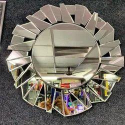Decorative Mirror Round Broken Design