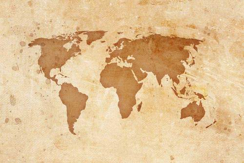 Multi Color Non-Woven And Vinyl Vintage World Map Wallpaper, Rs 65 ...
