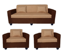 Bharat Lifestyle Lexus Fabric Sofa Set Golden And Brown