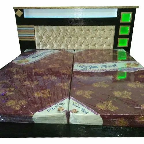 44a3936d3427 Black Wooden LED Double Bed, Rs 23500 /piece, Preet Furniture House ...