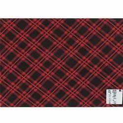Red And Black Checks Printed Fabric, GSM: 156 GSM
