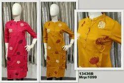 Cotton Flex Kurta With Heavy Embroidery
