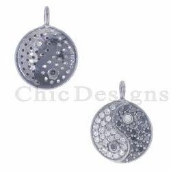 Diamond Religious Yang Charm Pendant