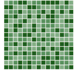 Green Random Mix Glass Mosaic Tiles