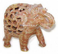 Soapstone Undercut Elephant