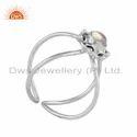 Ethiopian Opal Gemstone 925 Sterling Silver Oxidized Designer Rings