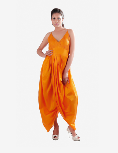 20e71734457 Mustard Yellow Ruched Bust Dhoti Style Jumpsuit