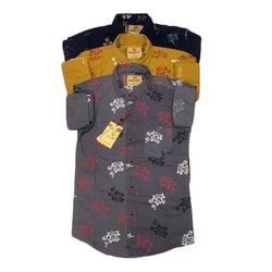 Cotton Casual Wear Kids Printed Shirts, 26-36
