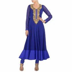 Party Wear Ladies Blue Raspberry Dress
