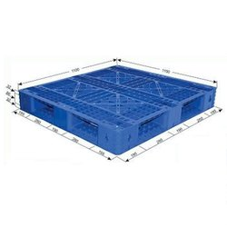Heavy Blue Export Plastic Pallet