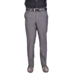Flat Trousers Cotton Corporate Mens Trouser