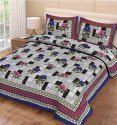 Floral Print Cotton Bedsheets for Double Bed