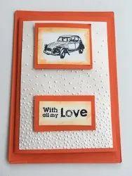 Craft Rectangular Lovers Cards, Size: A3
