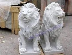 White Marble Loin Statue