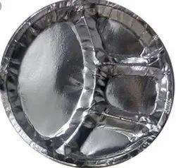 Plain 12 Inch Disposable Silver Paper Plate