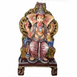 Dhanwanti Handicraft Fiber Ganesh Chowki Statue