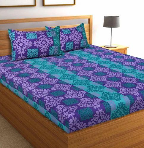 d04ff04e876 UniqChoice Pure Cotton Printed Double Bed Sheet