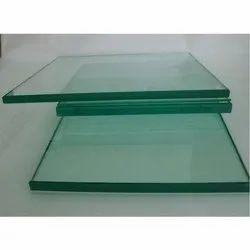 Transparent 8mm Toughened Glass, Shape: Flat