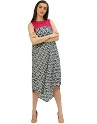 A-Line Printed Cotton Dress