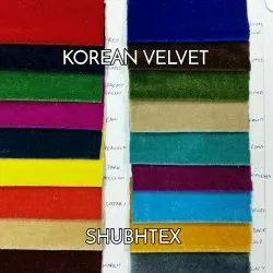 58-60 KOREAN VELVET FABRIC, For Suits & Sarees