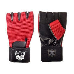 Hard Bodies Red And Black Sports Gloves
