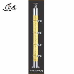 Acrylic Railing Yellow Pillar