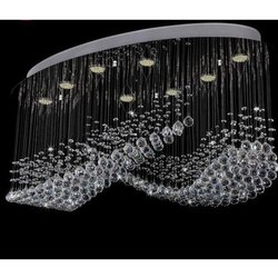 Glass Round Traditional Crystal Chandelier