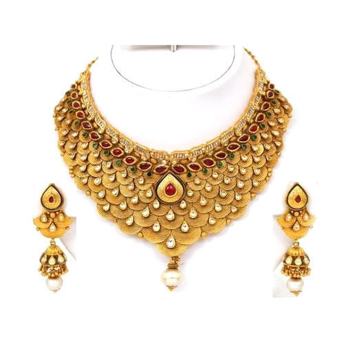 Women Gold Necklace Set Sone Ka Har Set Prem Jewellers Lucknow
