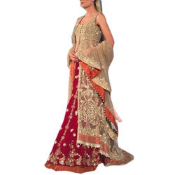 Pink Embroided Indian Bridal Dress