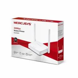 White Mercusys 300MBPS Wireless N Router, For Home & Office