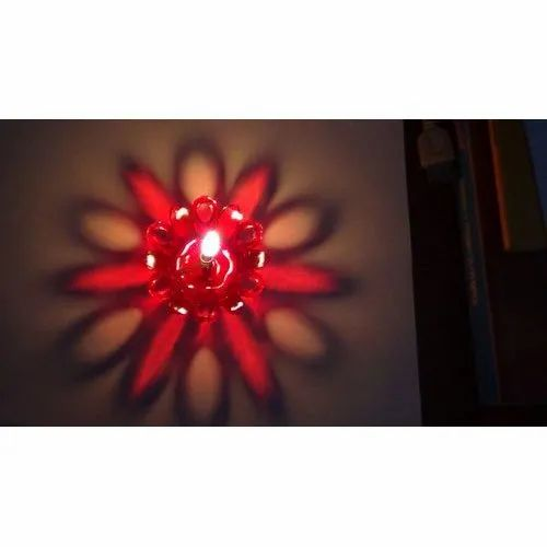 Floral Diwali Designer Plastic Floating Diya, Packaging Type: Box