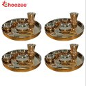 Choozee - Copper Thali Set of 4 (32 Pcs)Thali, Bowl, Spoon & Matka Glass