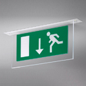 Fire Exit Ceiling Sign