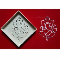 Ganesh Dotted Rangoli Pattern