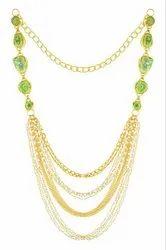 Geode Green Solar Druzy Stone Gold Plated Designer Women Jewelry Necklace