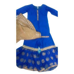Blue Parizah Kids Party Wear Gharara