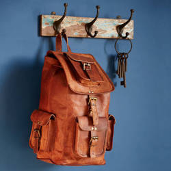 Vintage Leather Backpack, Shoulder Backpack, Handmade Leather Bags
