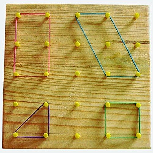 Geoboard 6&quot- 5x5 pin double-sided w/ rubber bd (042606) Details ...