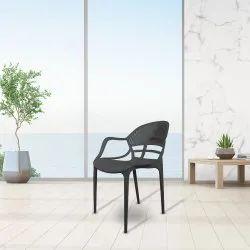 Diya Plastic Cafeteria Chair Sunset
